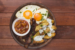 Tight breakfast baked potatoes Stock Photography