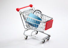 Tight budget. Concept or safe shopping on the web concept Stock Images