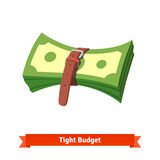 Tight budget and recession shrinking economy Royalty Free Stock Photos