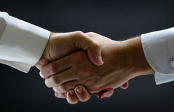 Tight business handshake royalty free stock photography