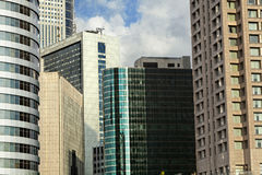 Downtown Buildings Cluster. Tight cluster of office buildings and skyscrapers of the Ramta-Gan downtown district (bordering Tel-Aviv Royalty Free Stock Images