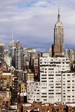 Empire State Building Midtown Manhattan Skyline New-York. The tight cluster of skyscrapers habitating midtown Manhattan with the famous Empire State Building Royalty Free Stock Image
