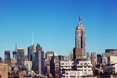 Empire State Building Midtown Manhattan Skyline New-York Royalty Free Stock Photography