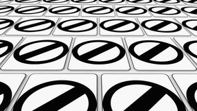 Tight Grid of Null Symbol Signs Stock Photography