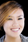 Tight Portrait Of Smiling Asian American Woman Stock Photos