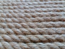 Tight rope. With horizontal orientation of fibers Royalty Free Stock Images