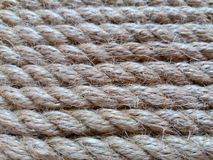 Tight rope. With horizontal orientation of fibers Royalty Free Stock Photography