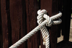 Tight rope knot Stock Images