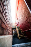 Tight space between two buildings in the Poor Trois-Riviere Area Stock Photo