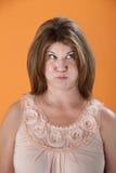 Tightlipped Woman Stock Photo