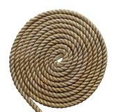 Tightly coiled heavy rope isolated Stock Photography