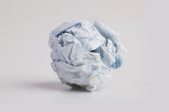 Tightly crumpled piece of paper Royalty Free Stock Image