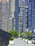 Tightly packed high rise apartment buildings, Manhattan, NYC Stock Image
