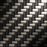 Tightly woven carbon fiber Stock Image