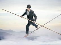 Tightrope Royalty Free Stock Photos
