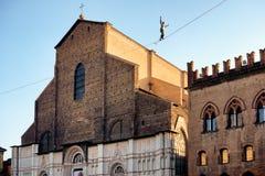 Tightrope walk over to Piazza Maggiore in Bologna, Italy Stock Photo
