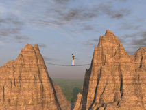 Tightrope walker Stock Images