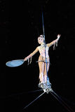 Tightrope walker Royalty Free Stock Image