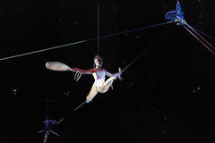 Tightrope walker Stock Photography