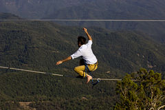 Tightrope walker Royalty Free Stock Photography