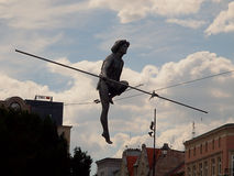 Tightrope walker from the Brda River. Stock Photo