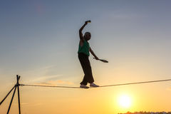 Tightrope walker Key West Stock Photo