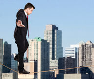 Tightrope walking Royalty Free Stock Image
