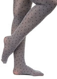 Tights on legs girls isolated Royalty Free Stock Photo