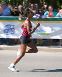 Tigist Tufa of Ethiopia wins Ottawa Marathon 2014 Stock Images