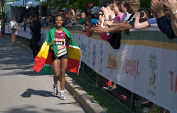 Tigist Tufa of Ethiopia wins Ottawa Marathon 2014 Stock Photo