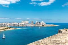 Tigne Point at Sliema, Malta. EU Stock Image