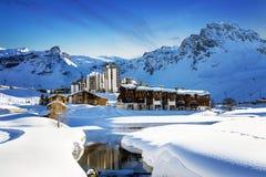 Tignes, горные вершины, Франция Стоковые Фото