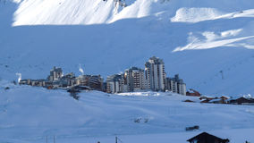 tignes лыжи курорта красного вина val Стоковое фото RF