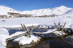 Άποψη Tignes Στοκ φωτογραφία με δικαίωμα ελεύθερης χρήσης