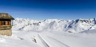 Tignes, alpen, Frankrijk Stock Afbeeldingen