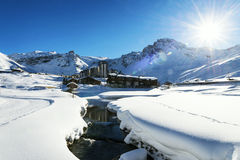 Tignes, alpes, Frances Images stock