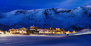 Tignes, alpes, Frances Photographie stock