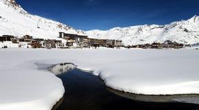 Tignes, alpes, Frances Photo stock