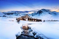 Tignes, alpi, Francia Immagine Stock