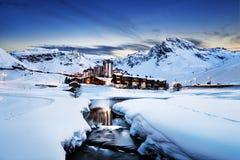 Tignes, alpi, Francia Immagini Stock Libere da Diritti