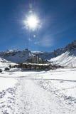 Tignes, alpi, Francia Fotografia Stock Libera da Diritti