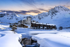 Tignes, alps, France Royalty Free Stock Image