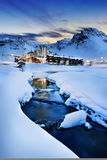 Tignes, alps, France. Evening landscape and ski resort in French Alps,Tignes, Tarentaise, France Stock Photos