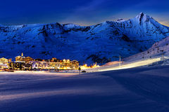 Tignes, alps, France Stock Image