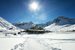 Tignes, alps, France Royalty Free Stock Photos