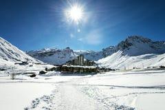 Tignes, alps, France Royalty Free Stock Photos