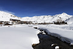 Tignes, alps, France Stock Photos