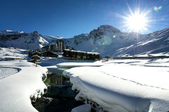 Tignes, alps, France Stock Photography