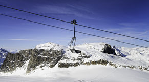 Tignes, alps, France Royalty Free Stock Photography