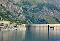 Tignes and dam Stock Photo